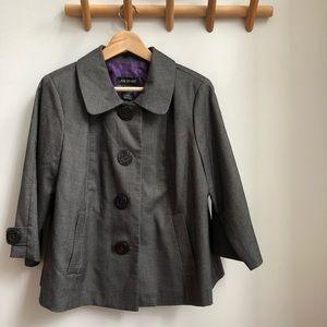 LANE BRYANT Gray Blazer Jacket 3/4 Sleeve